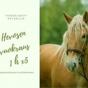 Hevosen vuokraus 5x